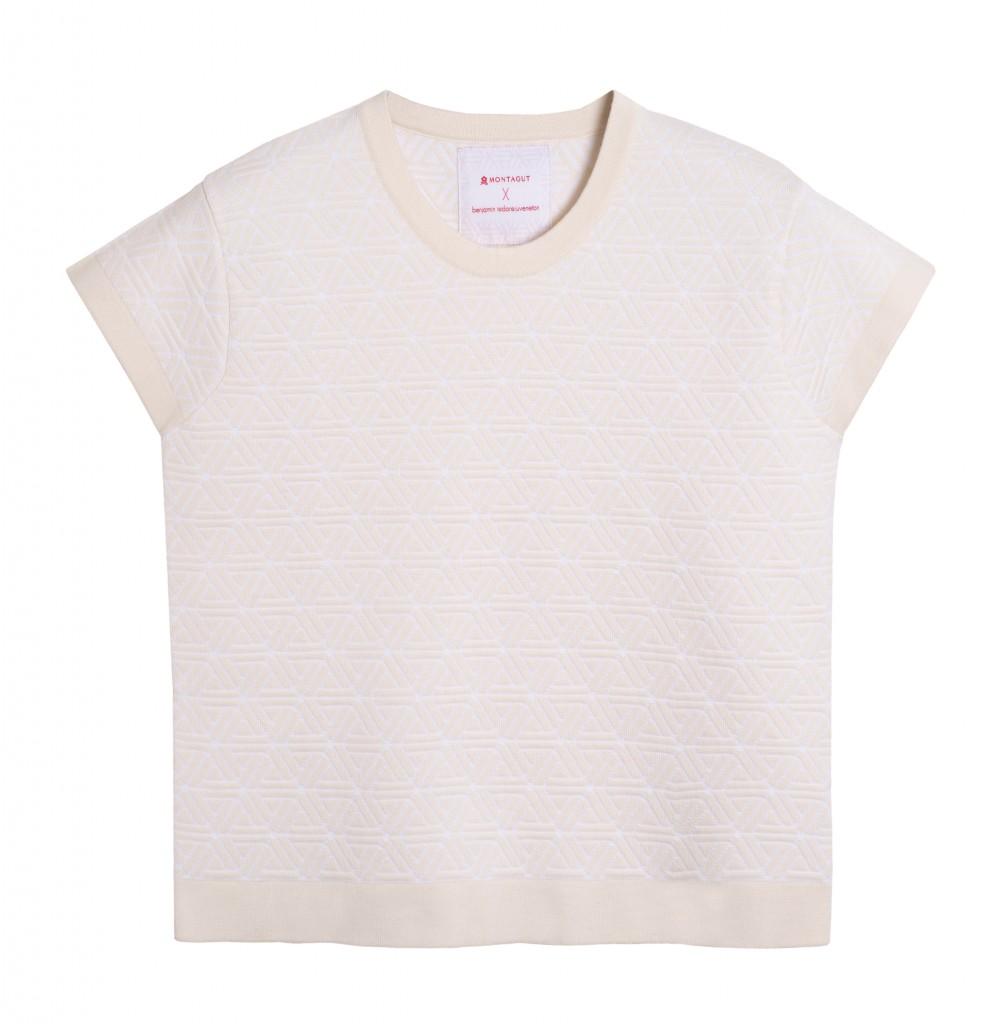 tshirt blanc collection capsule Montagut by Juveneton