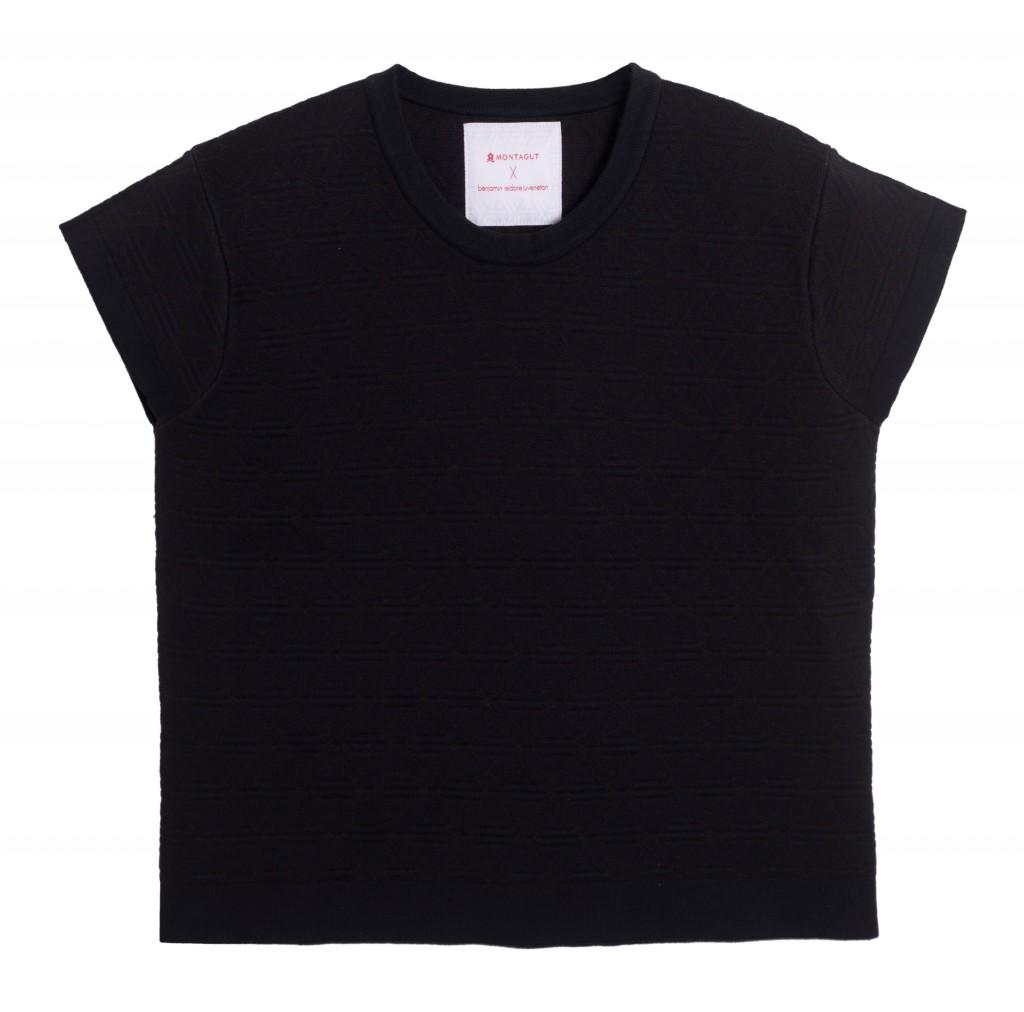 tshirt noir collection capsule Montagut by Juveneton