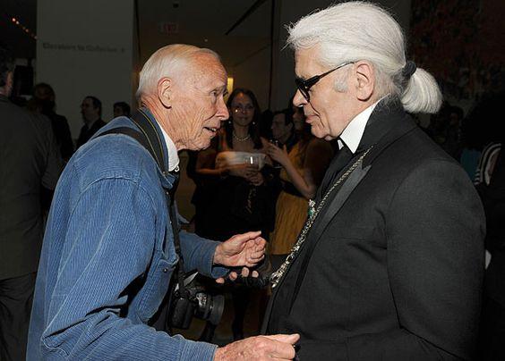Bill Cunningham and Karl Lagerfeld