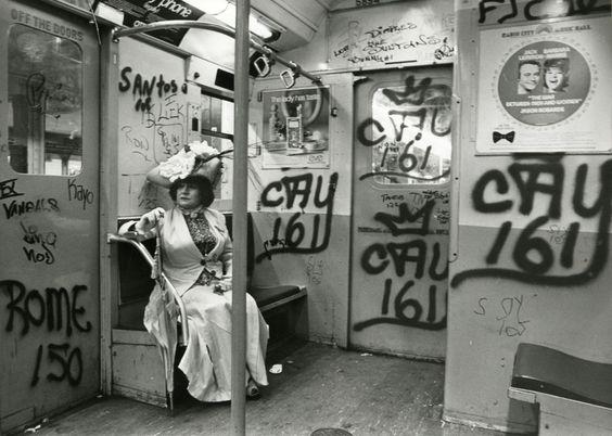 Editta Sherman on the train New York