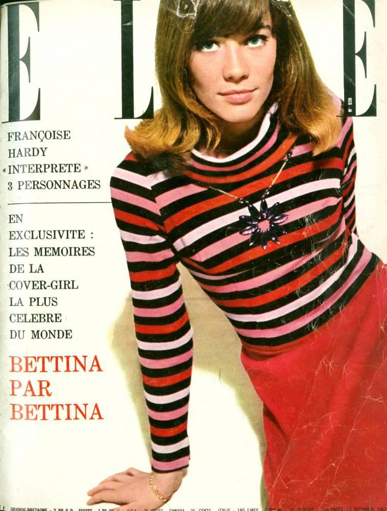 Françoise Hardy magazine cover Elle