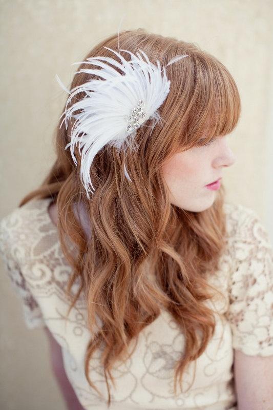accessoire cheveu plume