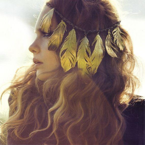 accessoires cheveux plume pour mariage
