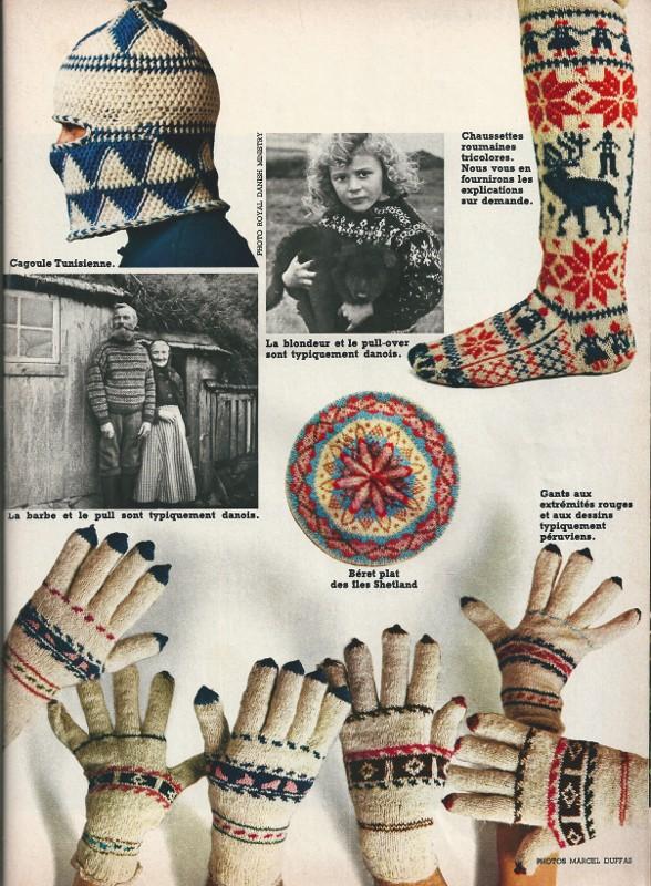 gants jacquard