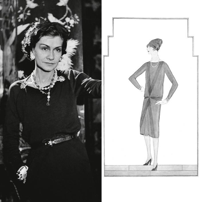 black dress coco chanel