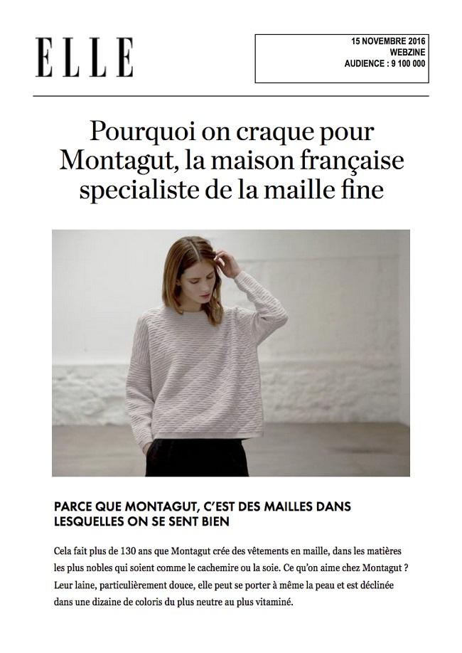 Mise en avant sur Elle.fr