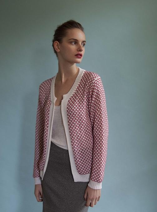 gilet femme coton bicolore collection croisière