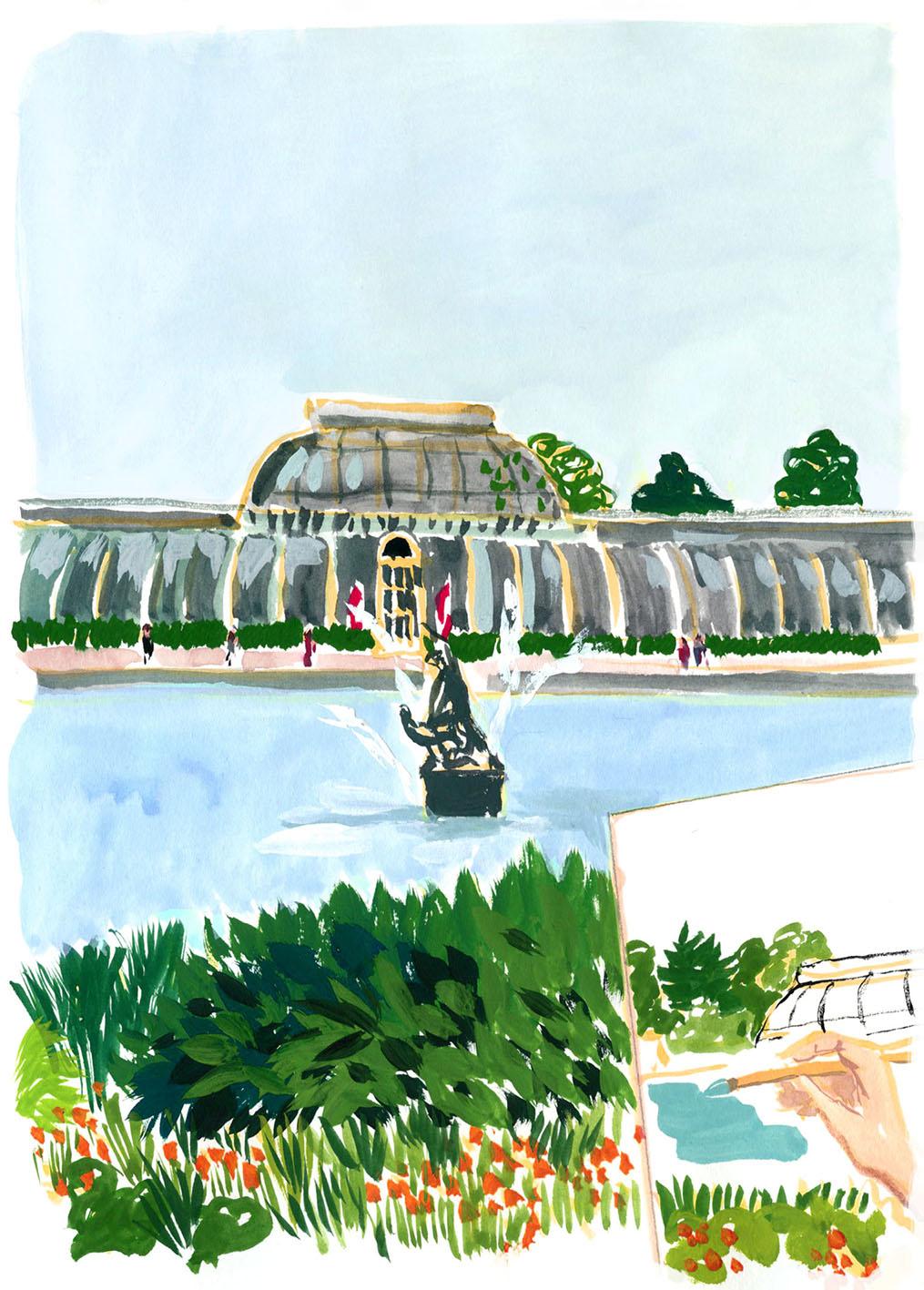 drawing landscape Cassandre Montoriol