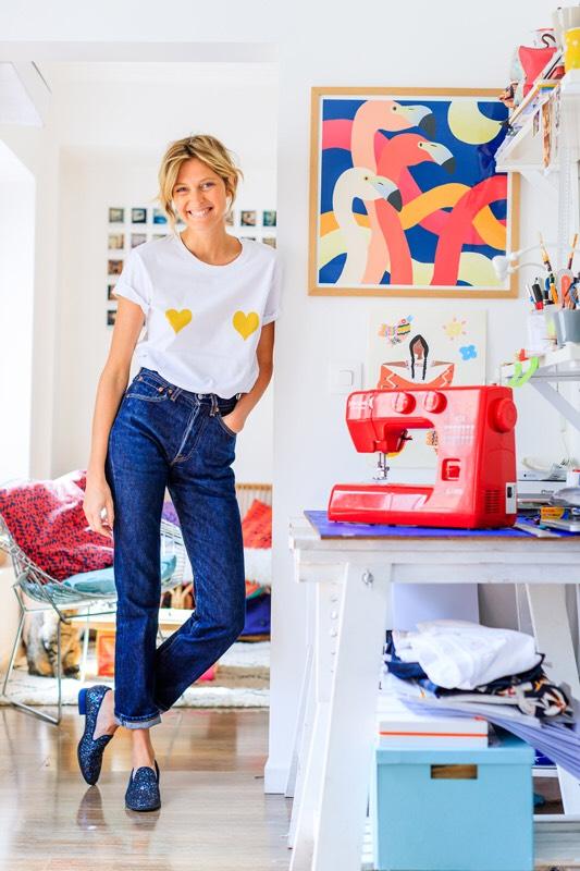 portrait Elise Chalmin tee shirt Mona