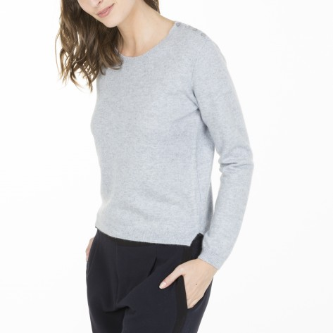 Crew neck pullover made of cashmere