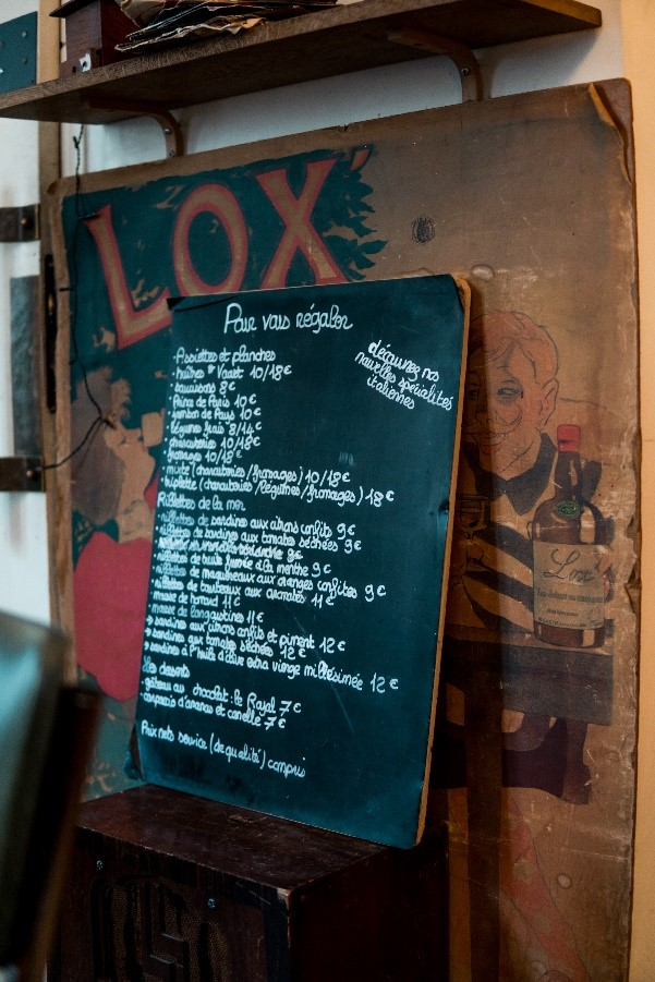 Les Beaux Gamins' menu